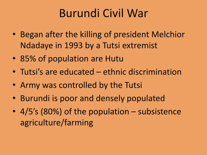 Burundi Civil War