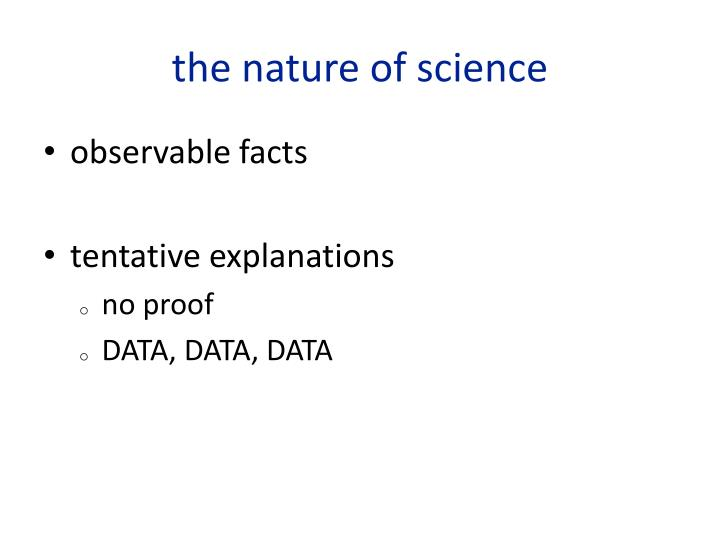 the nature of science