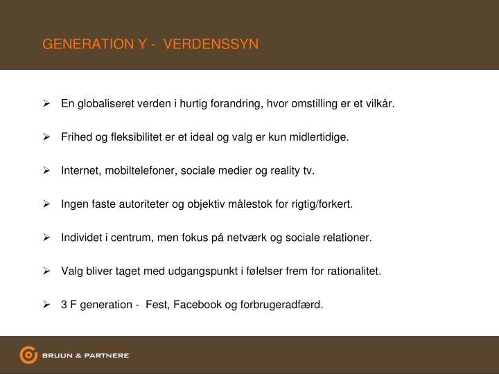 GENERATION Y -  VERDENSSYN