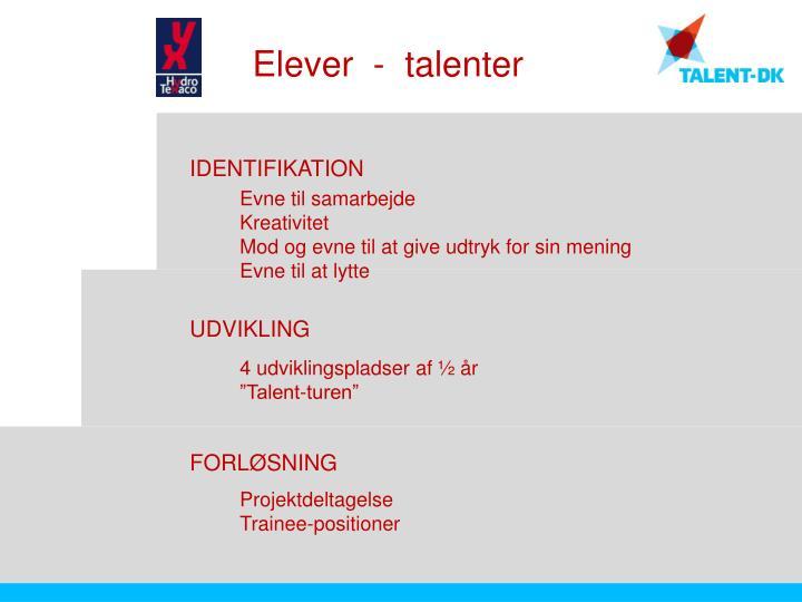Elever  -  talenter