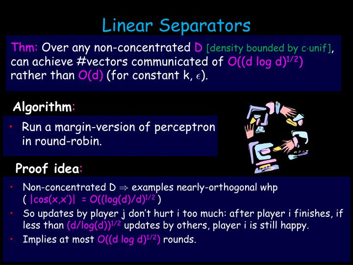 Linear Separators