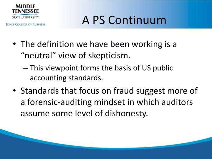A PS Continuum
