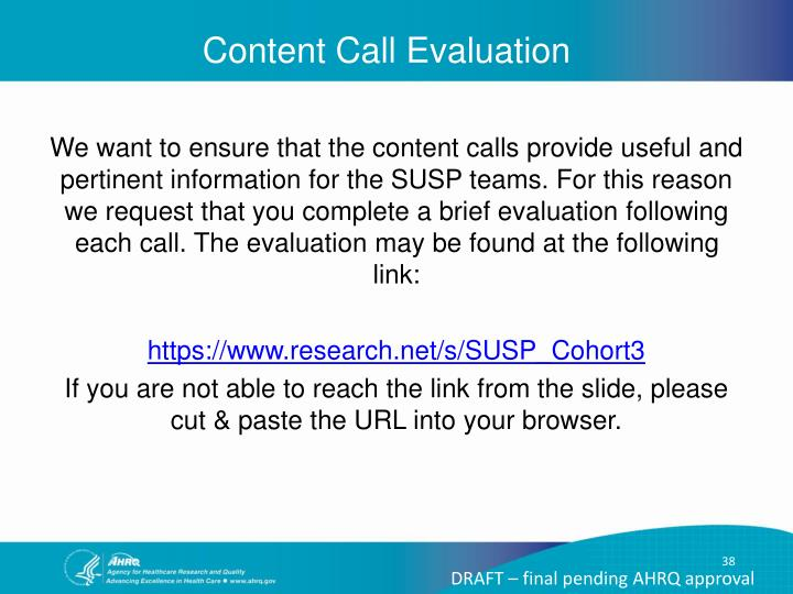 Content Call Evaluation