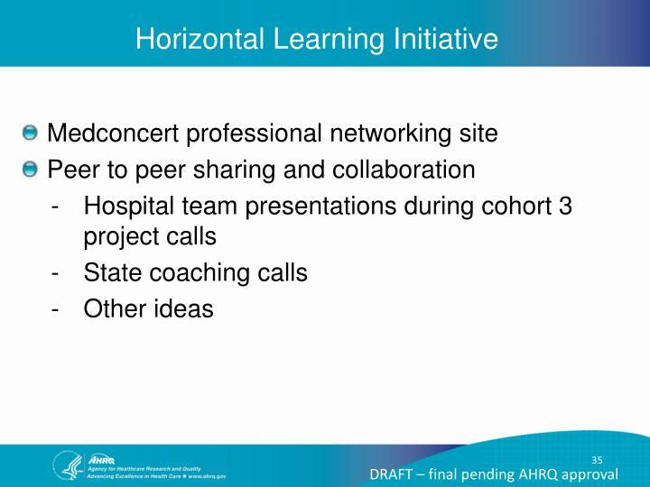 Horizontal Learning Initiative