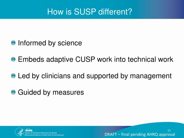 How is SUSP different?