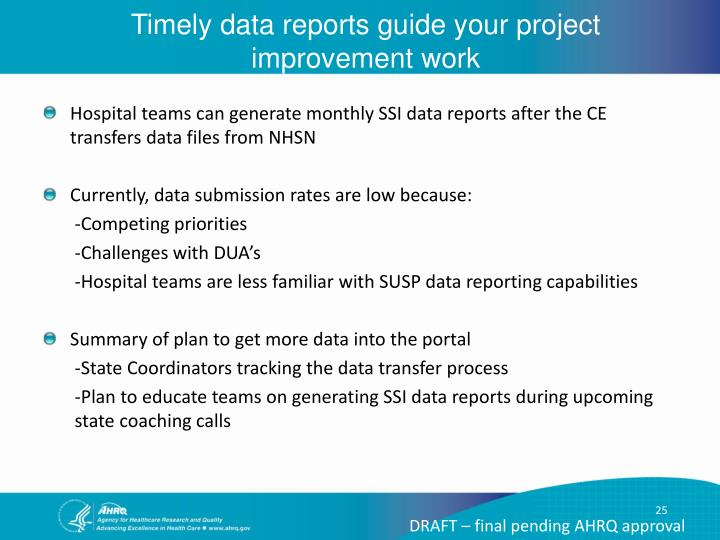 Timely data reports guide your project improvement work