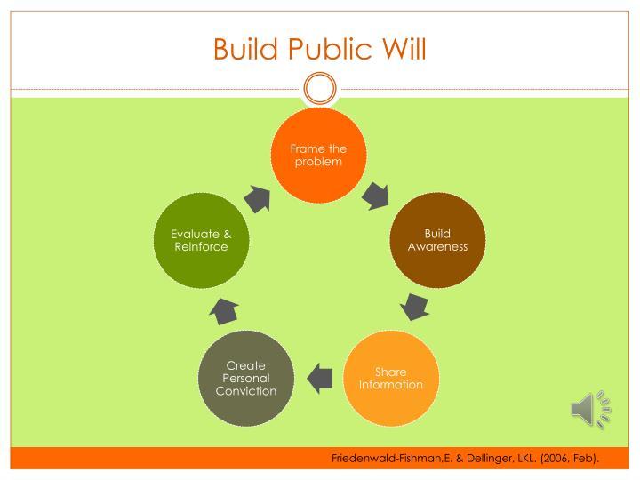 Build Public Will