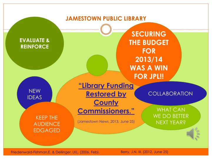 JAMESTOWN PUBLIC LIBRARY