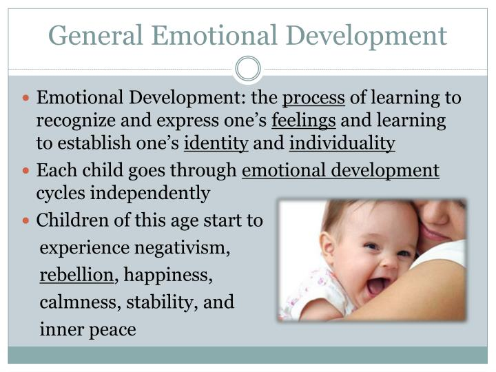 General Emotional Development
