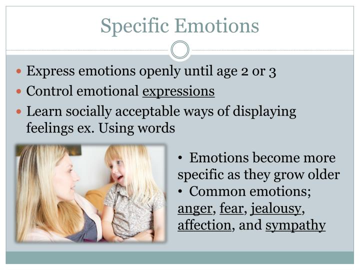 Specific Emotions