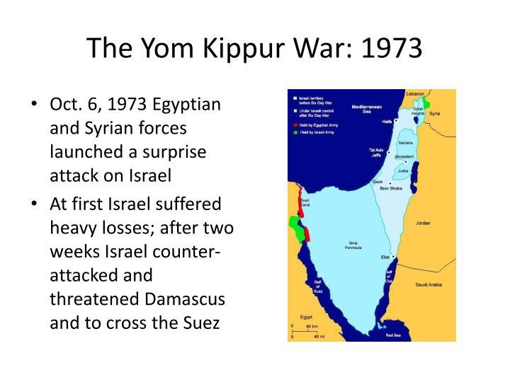 The Yom Kippur War: 1973