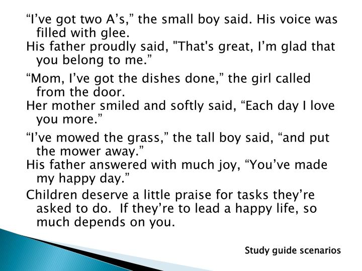 """I've got two A's,"" the small boy said. His voice was filled with glee."