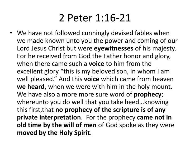 2 Peter 1:16-21