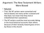 argument the new testament writers were biased