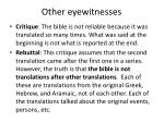 other eyewitnesses