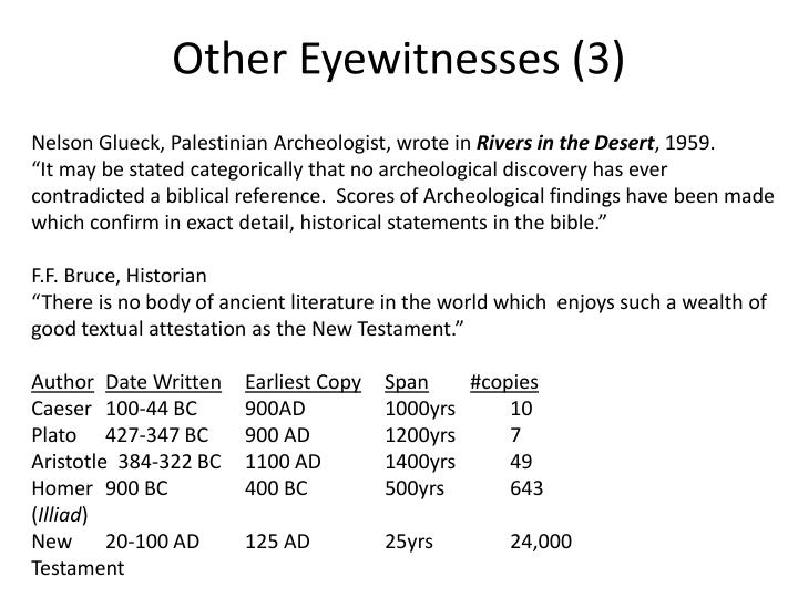 Other Eyewitnesses (3)