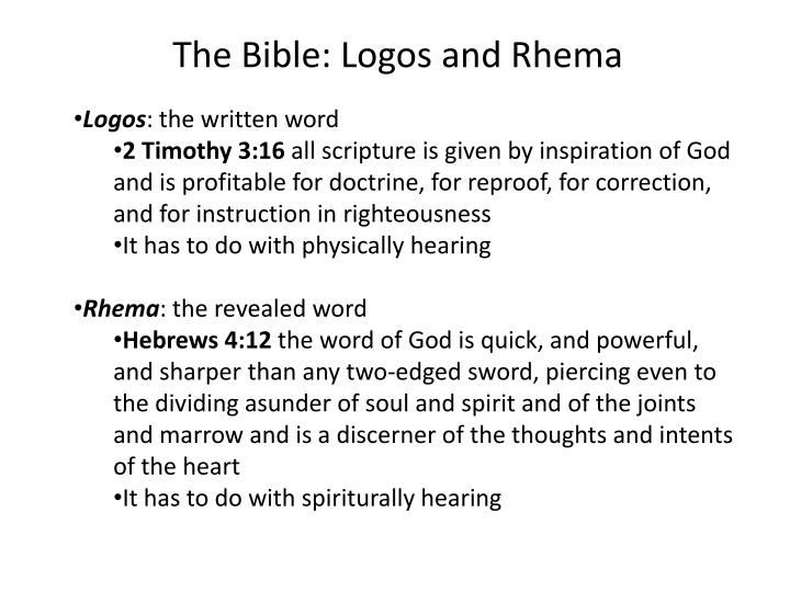 The Bible: Logos and