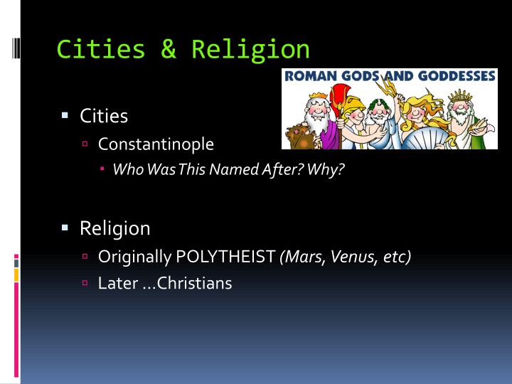 Cities & Religion