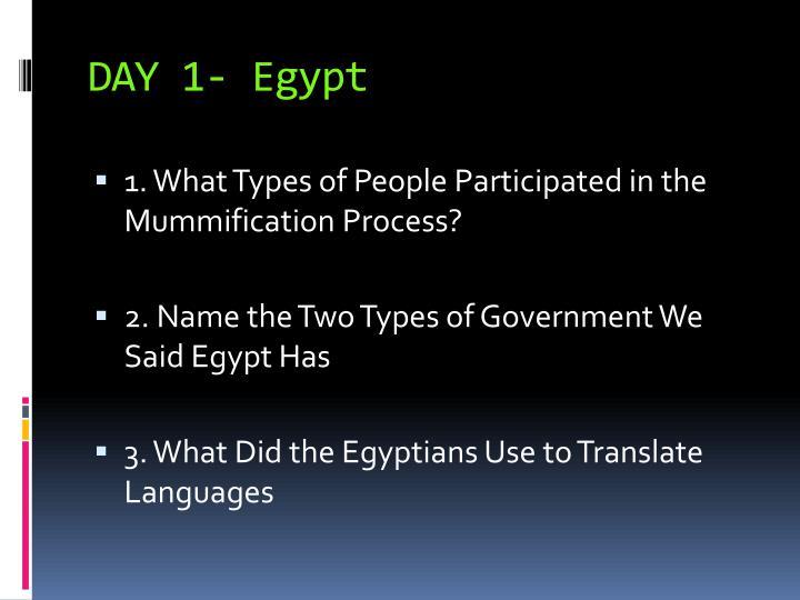 DAY 1- Egypt