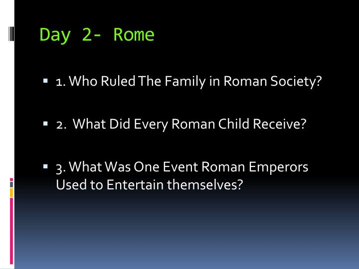 Day 2- Rome
