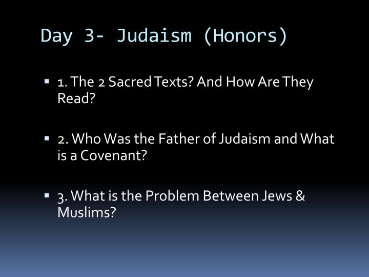 Day 3- Judaism (Honors)