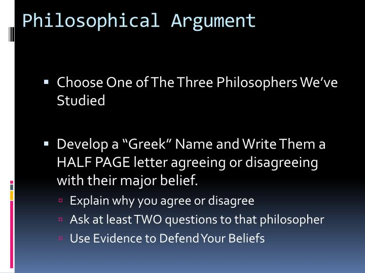 Philosophical Argument