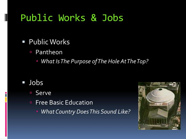 Public Works & Jobs