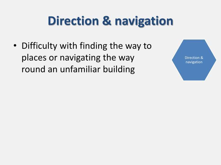 Direction & navigation