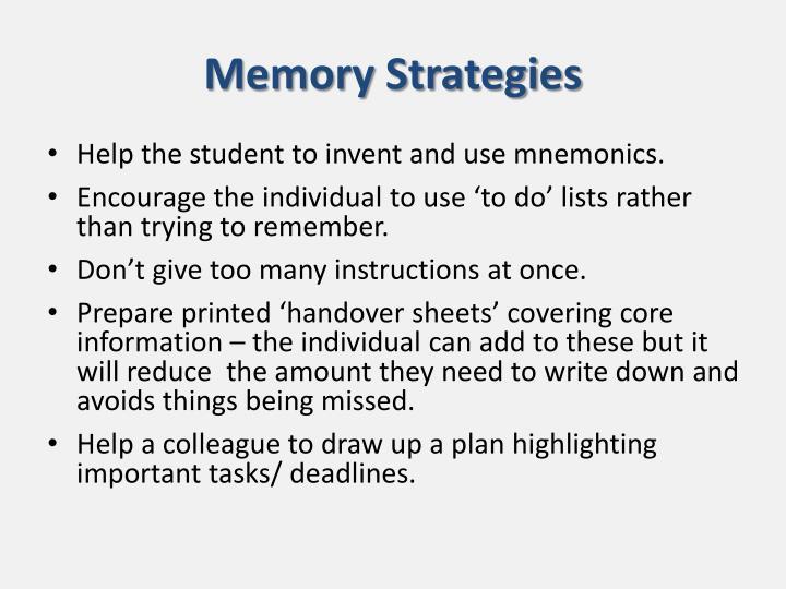 Memory Strategies