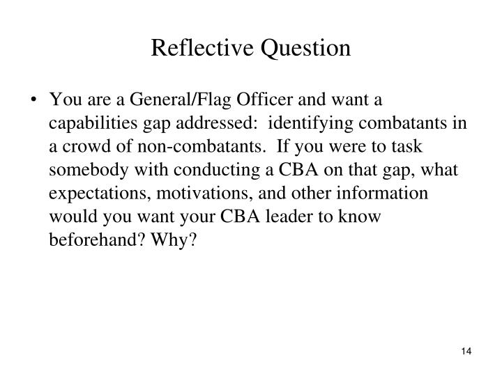 Reflective Question