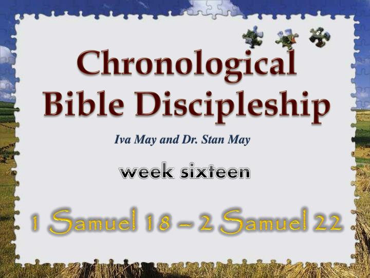 Chronological Bible Discipleship