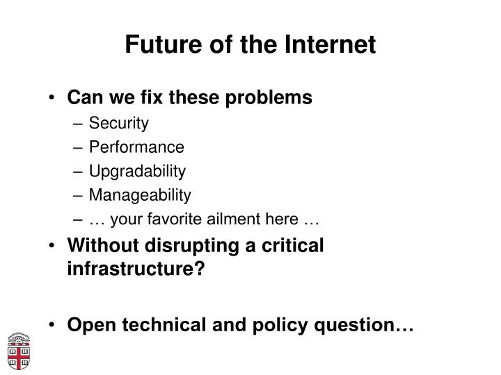Future of the Internet