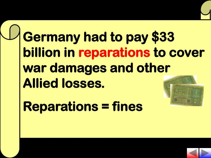 Germany had to pay $33 billion in