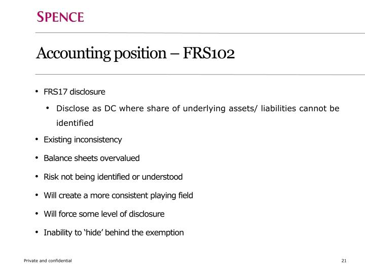 Accounting position – FRS102