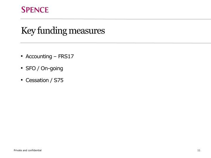 Key funding measures