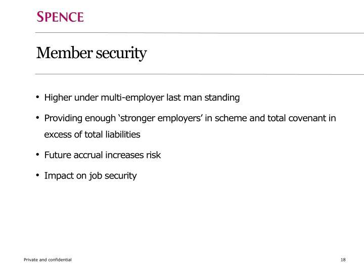 Member security