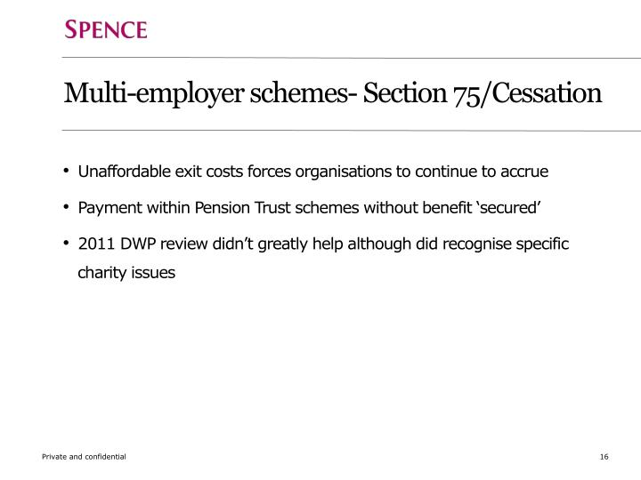 Multi-employer schemes- Section 75/Cessation