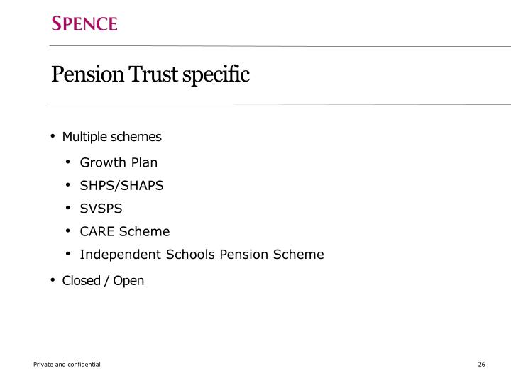 Pension Trust specific