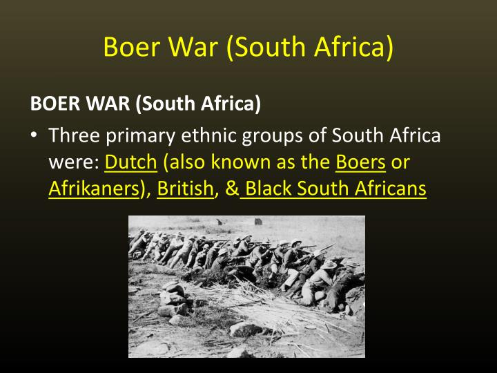 Boer War (South Africa)