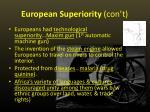european superiority con t