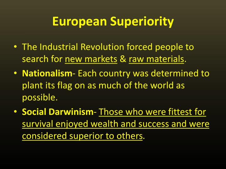 European Superiority