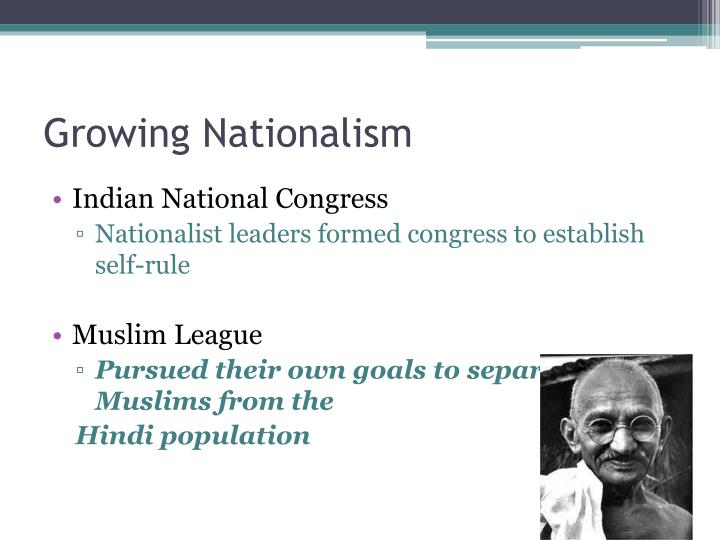 Growing Nationalism