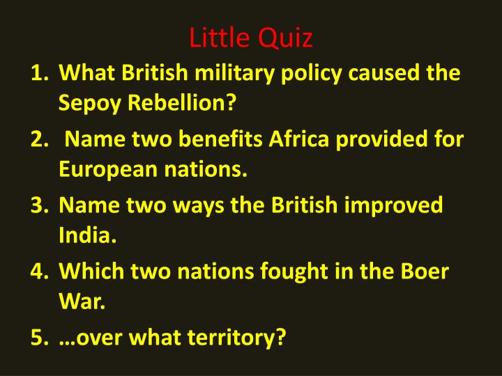 Little Quiz