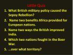 little quiz