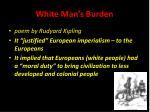 white man s burden