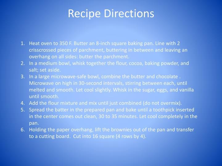 Recipe Directions