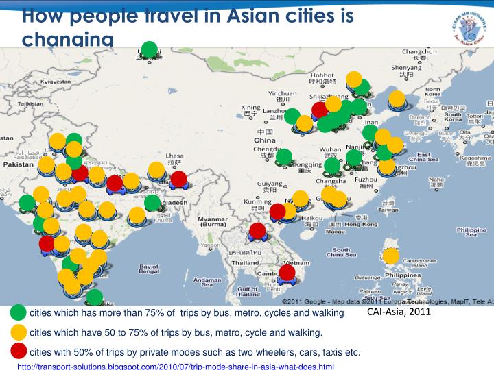 How people travel in Asian cities is changing