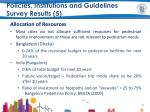 policies institutions and guidelines survey results 5