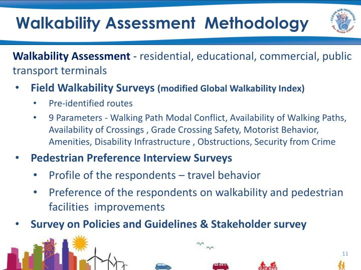 Walkability Assessment  Methodology