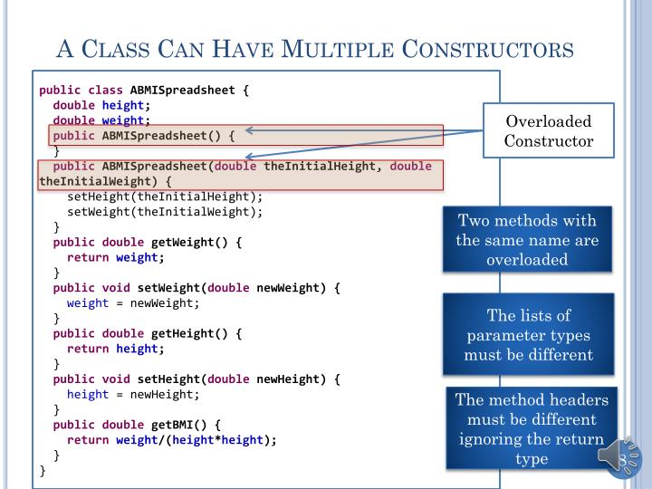 A Class Can Have Multiple Constructors